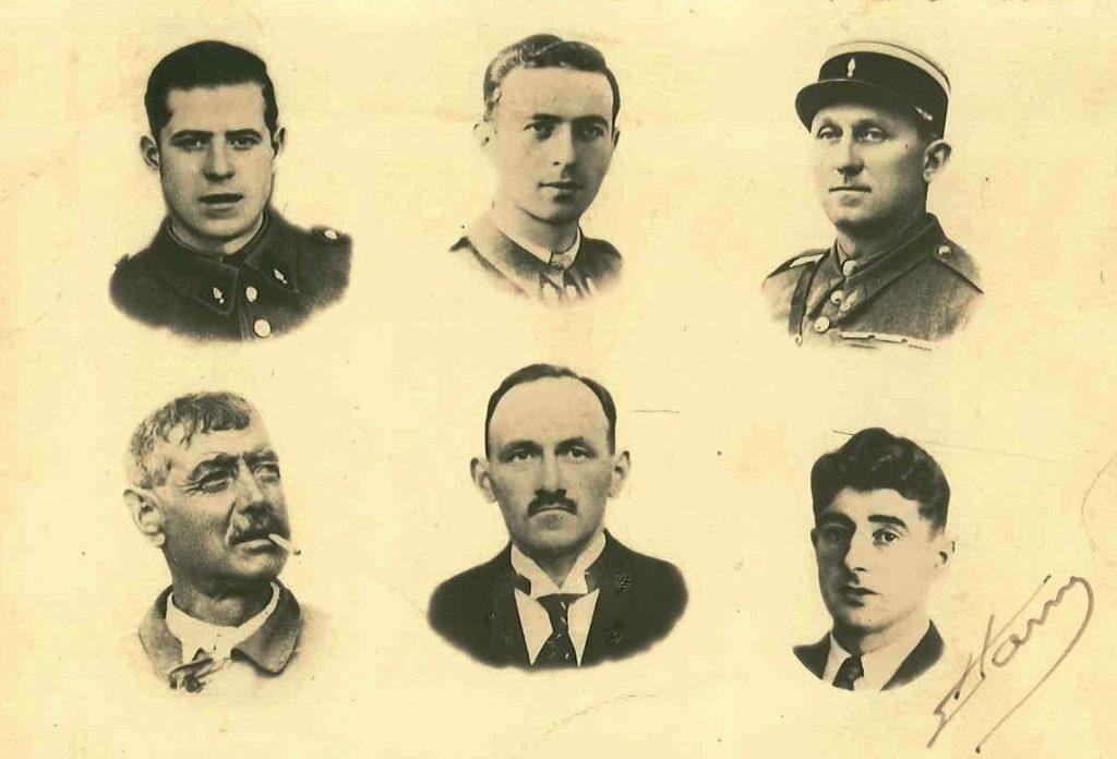 Les 6 victimes de Crécy
